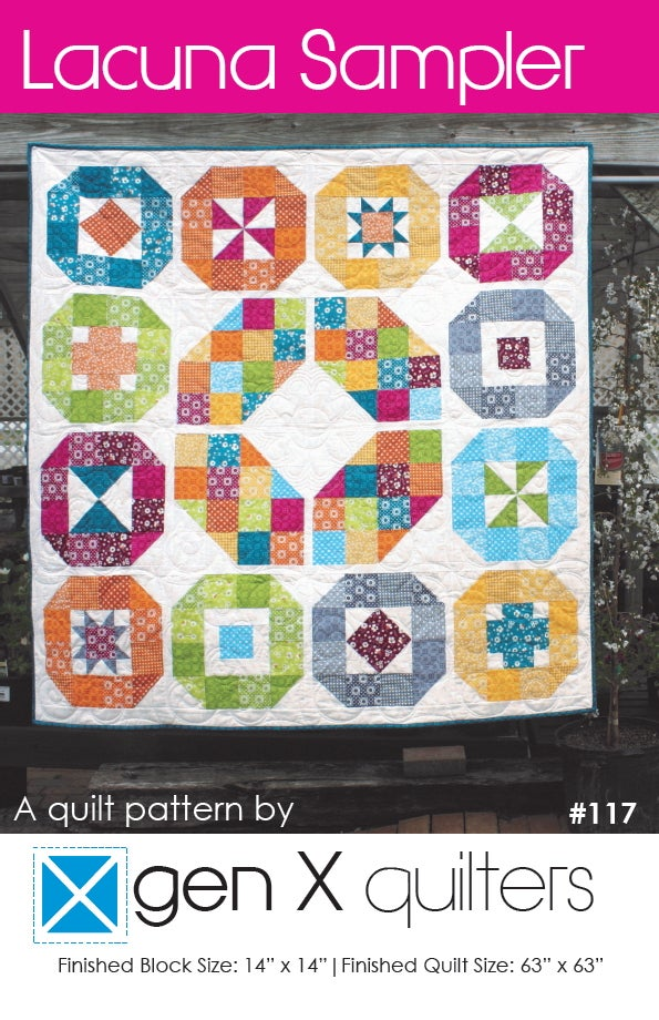 Gen X Quilters Lacuna Sampler Quilt Pattern Hard Copy Paper Mesmerizing Sampler Quilt Patterns