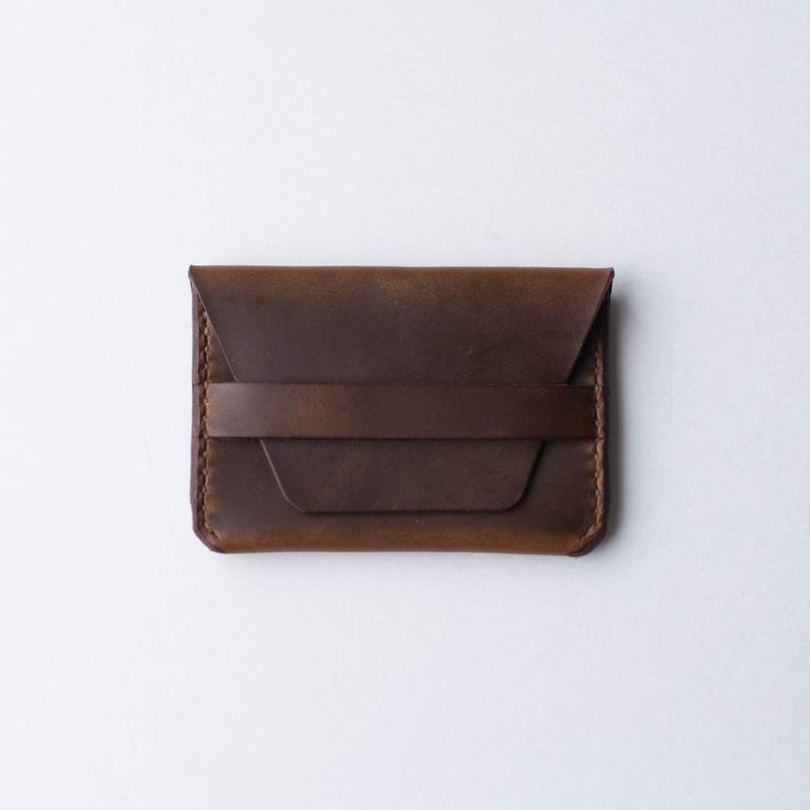 Image of Golden Brown Flap Wallet