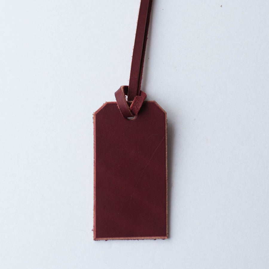 Image of Oxblood Leather Tag