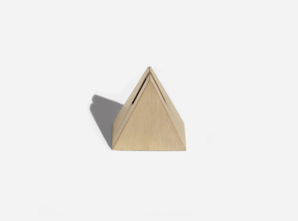 Image of Brass Geo Stand - Triangle