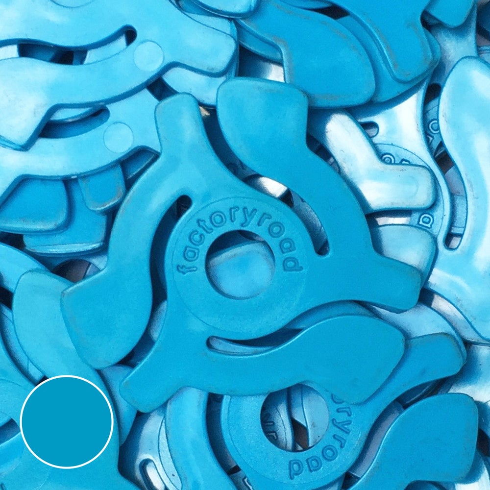 Image of Blue 45rpm Adapters -  10 Pack
