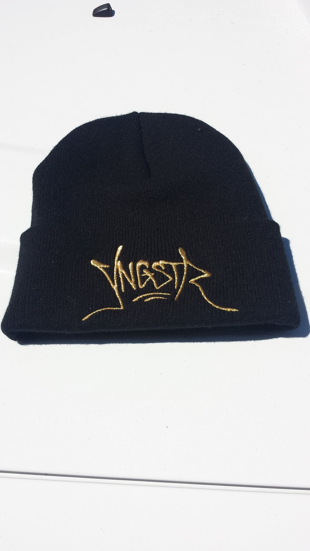 Image of Gold YNGSTR Tag Beanie
