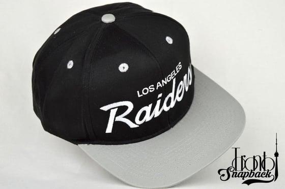 Image of LOS ANGELES RAIDER BLACK/GREY VINTAGE SNAPBACK CAP