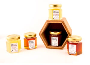 Image of Miniature Glass Jar of Honey