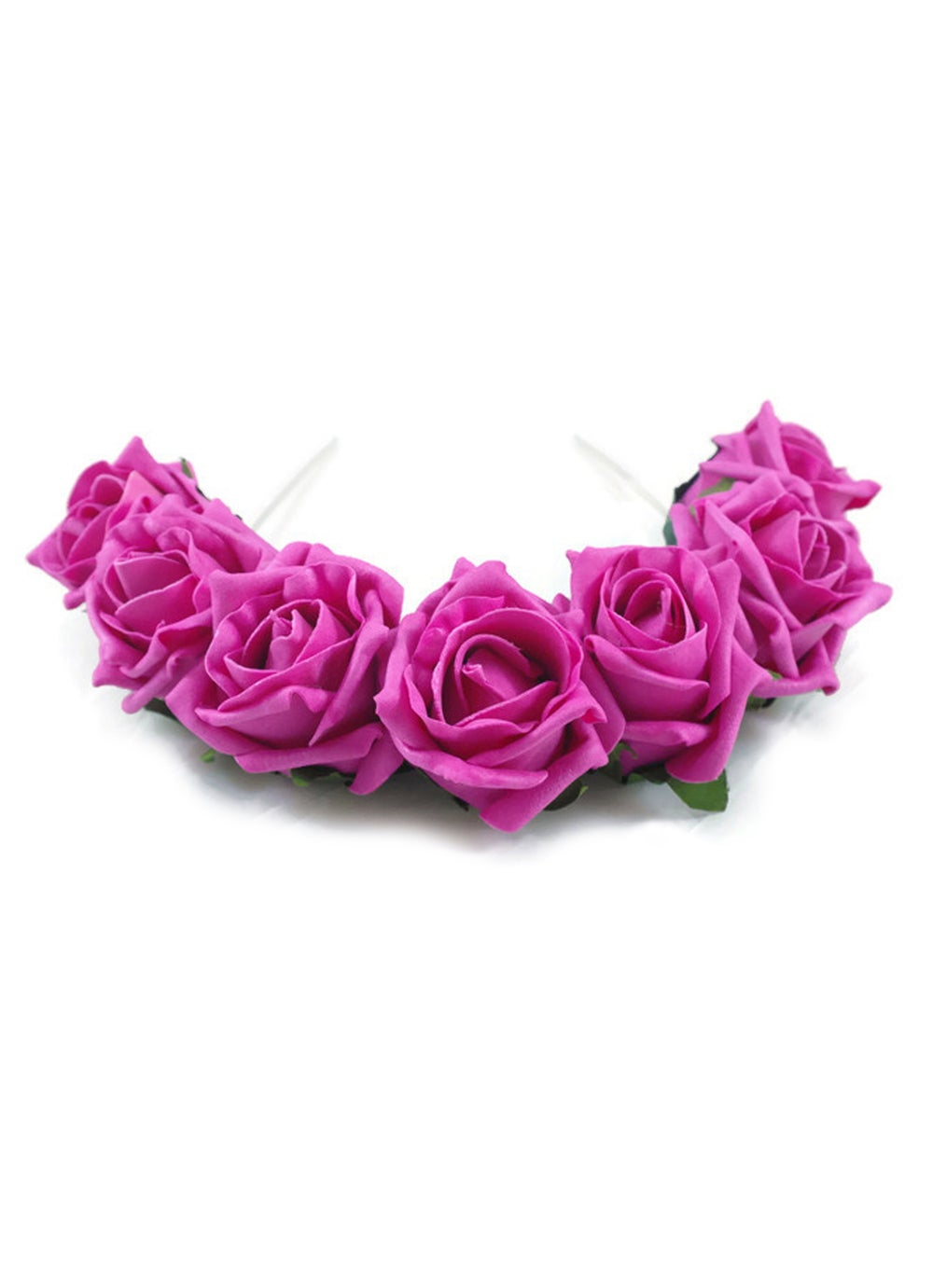 Image of Blooming Rose Crown Hot Pink