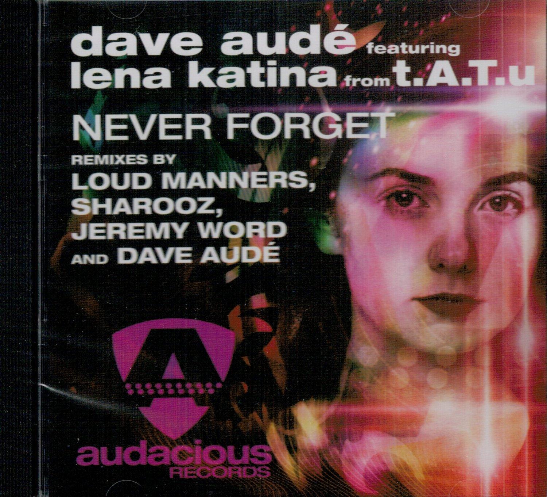 """Image of DAVE AUDE' FEAT. LENA KATINA """"NEVER FORGET REMIXES"""" ALBUM"""