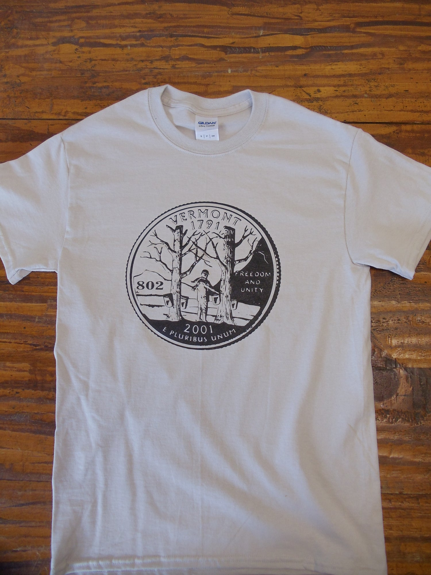 Image of Vermont State Quarter T-Shirt - vermont clothing - vermont store - 802 clothing - Vermont shirt