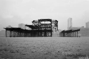 Image of The West Pier Brighton, B&W 16 X 12 photographic darkroom print on fibre based paper.