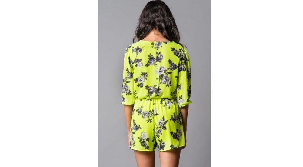 Image of Floral Lime Romper