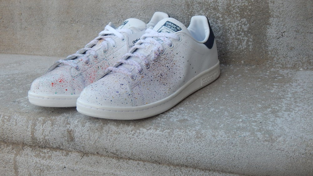Image of Adidas Stan Smith paint splatter