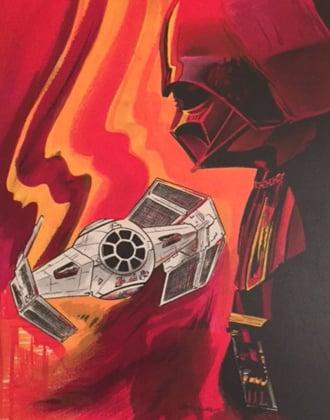 "Image of ""Darth Vader"" Star Wars Watercolor Series"