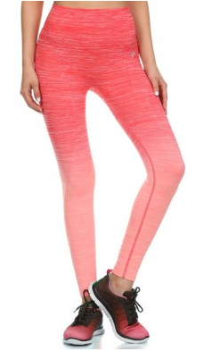 Image of High Waisted Coral Ombre Leggings