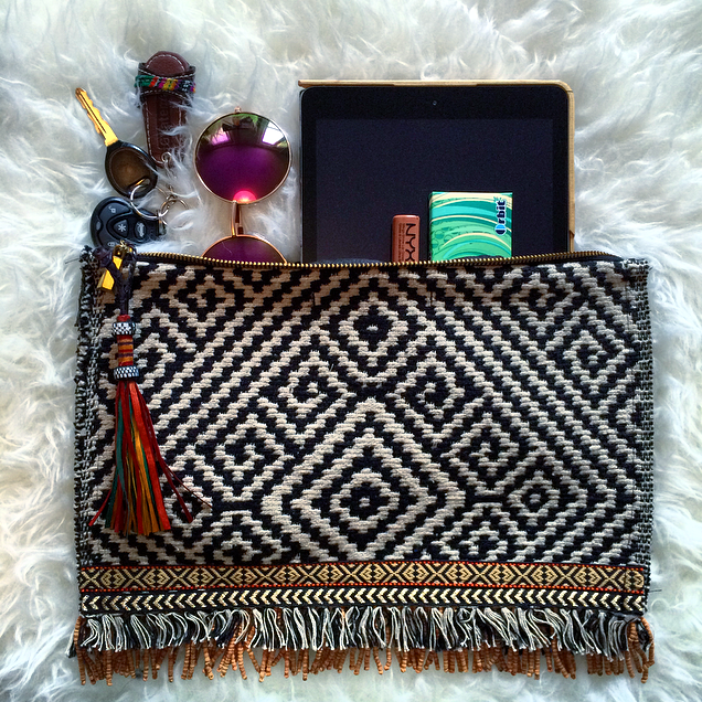 Image of •Tanah• beaded fringe clutch