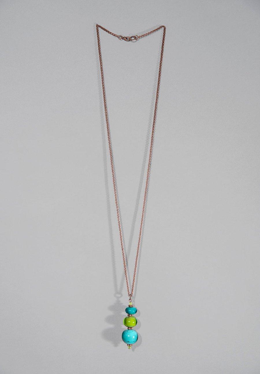 Image of collana TOTEM in perle di vetro di Murano