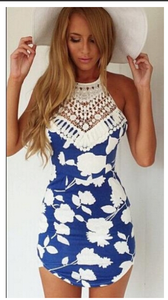Image of Blue and White floral Beachwear outfit
