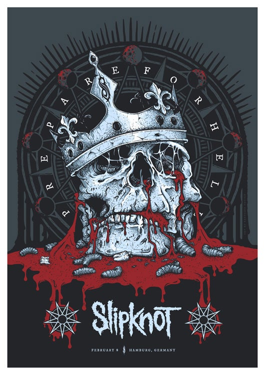 Image of Slipknot Screenprinted Poster (Germany)
