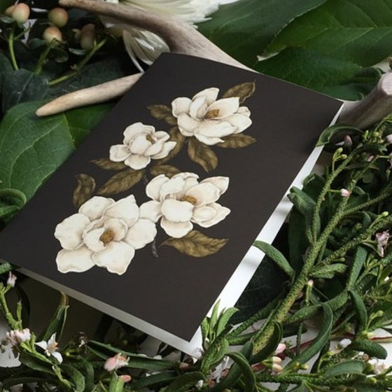 Image of Magnolias Greeting Card