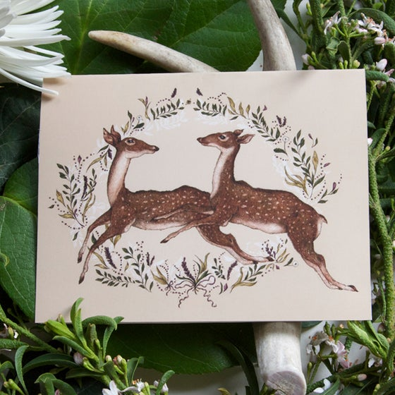 Image of Jumping Deer Card