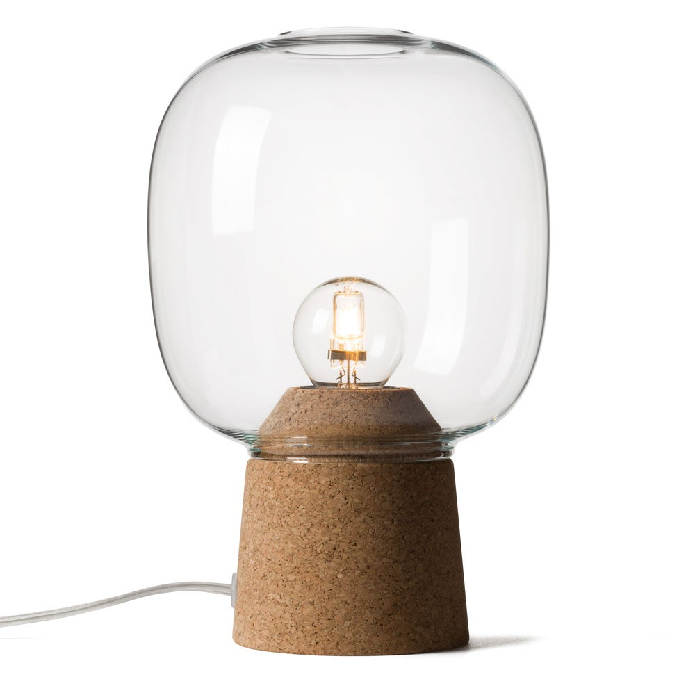 lamps neck table p tn cork with glass bottle titan clear lamp in lighting