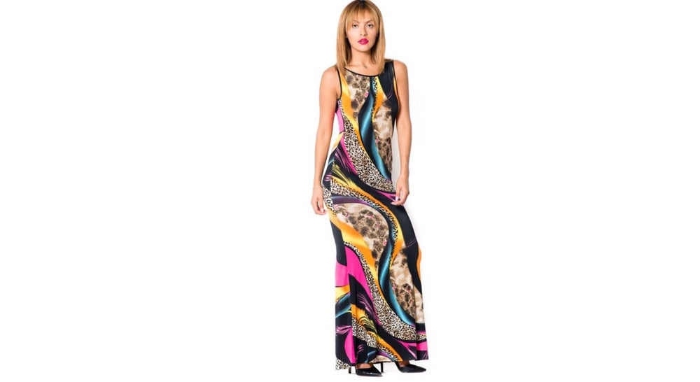 Image of Mix Print Maxi