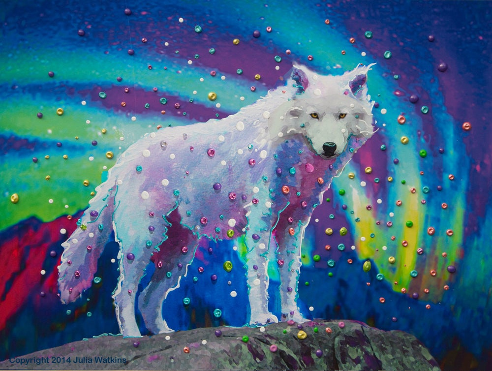 Image of White Wolf Spirit Guide Gicleee Print - Museum Quality