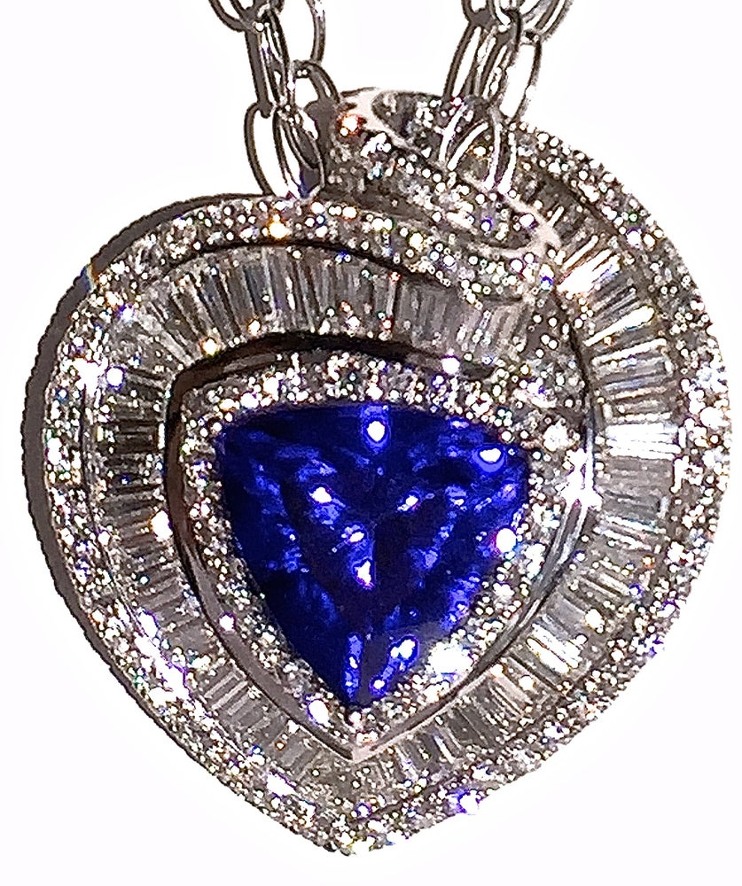 ct trillion itm blue sensational natural cut mm tanzanite x purple