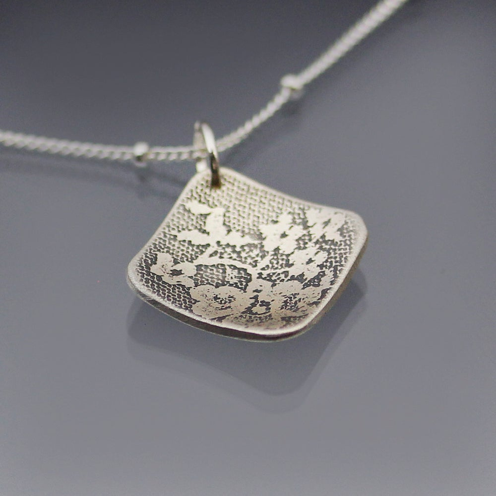 Image of Sterling Silver Diamond Lace Necklace
