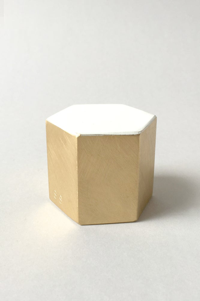 Image of Float paperweight - Hexagon ::: SOLD OUT :::