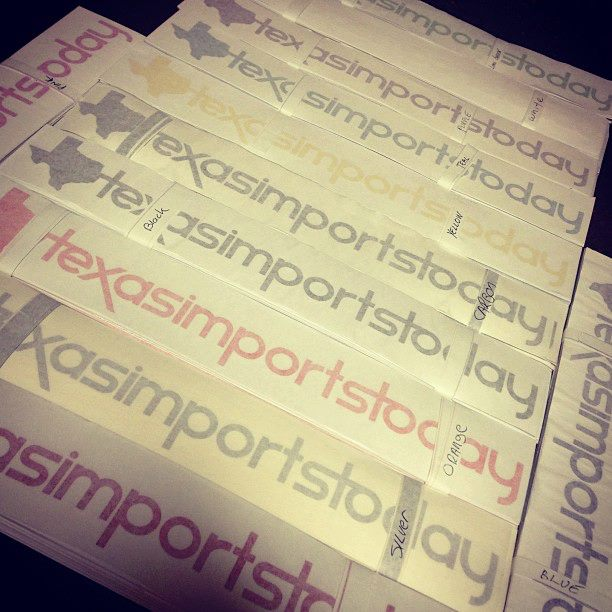 Image of TexasimportsToday Decals