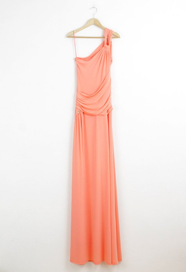 Image of SALMON LONG DRESS