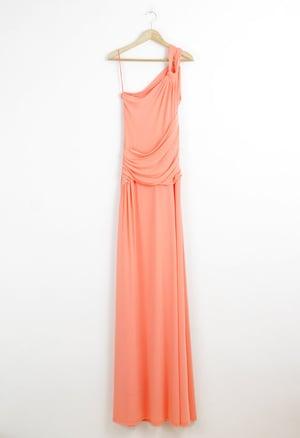 Image of SALMON LONG DRESS
