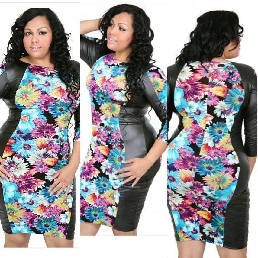 Image of mood blossom dress (plus size)
