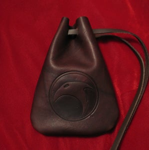 Image of The Skelton Crew Collection: Skelton Crew logo leather pouch