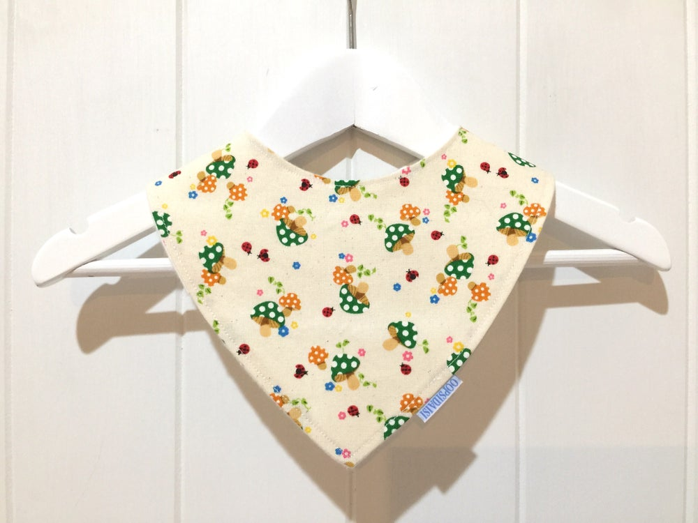 Image of Bandana Bib - Tiny Mushrooms