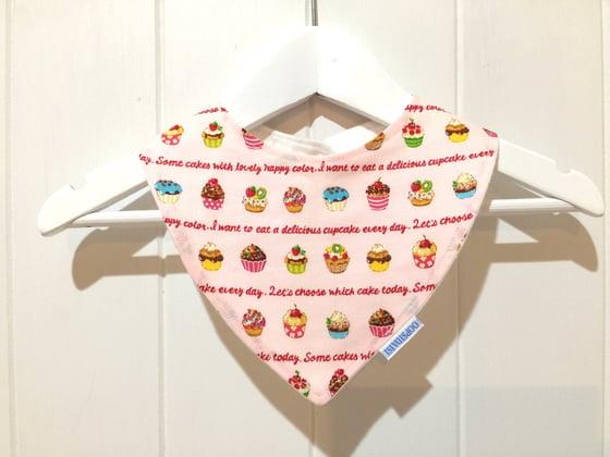 Image of Bandana Bib - Pink Cupcakes