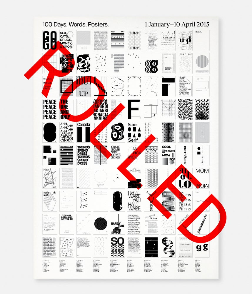 Image of 100DWP / Poster [Rolled]