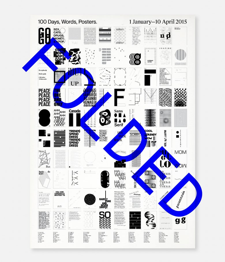 Image of 100DWP / Poster [Folded]