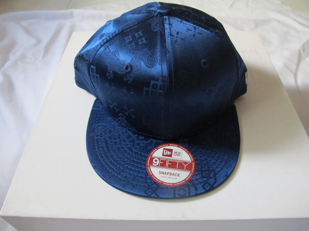 Image of CLOT - CNY ROYALE SILK Snapback (Blue Navy) New Era
