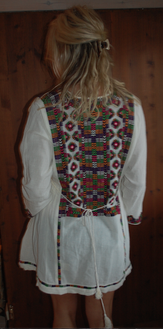 Image of Mexican inspired embroidered short dress