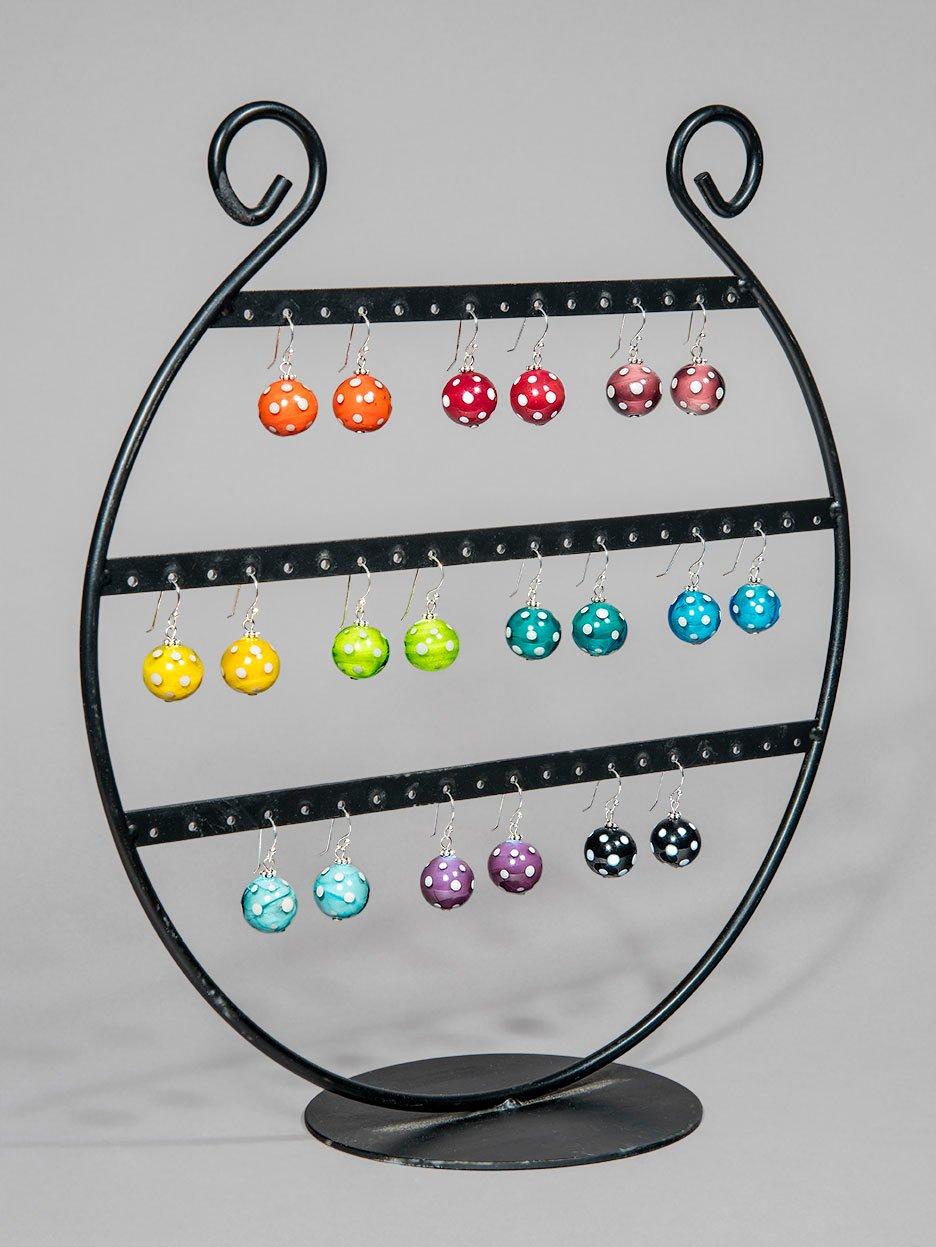 Image of orecchini MINNIE tondi in perle di vetro di Murano
