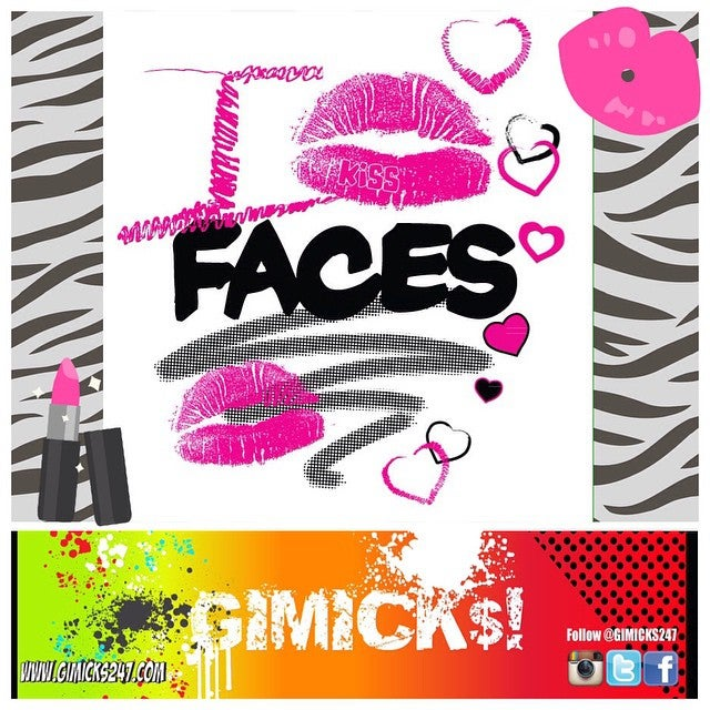 "Image of ""I KISS FACES"" White/Pink T-shirt"