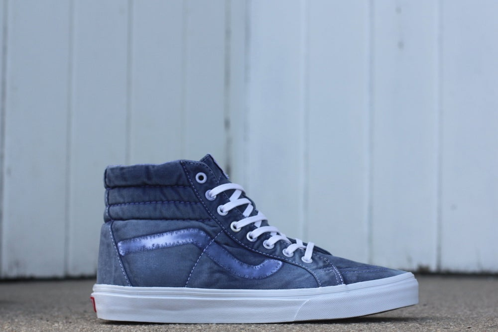 Image of VANS SK8 HIGH WASHED DENIM