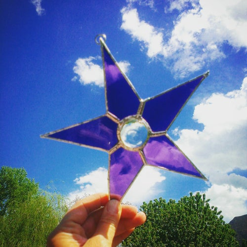 Image of Solid Star w/gem-stained glass