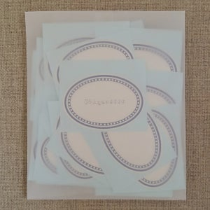 Image of Etiquettes -ovale bleu-