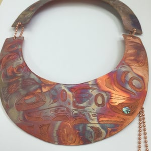 Image of Copper lovebirds neck plate