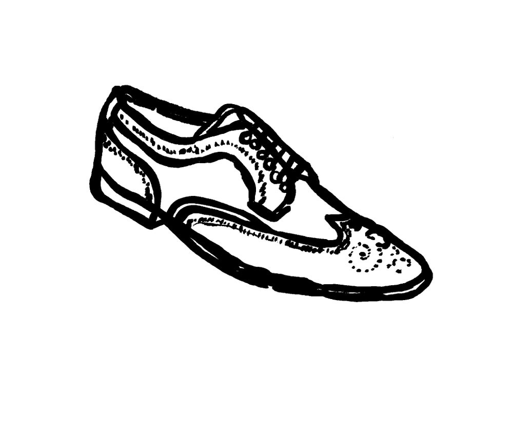 Image of MEN'S BROGUE OUTLINE PRINT