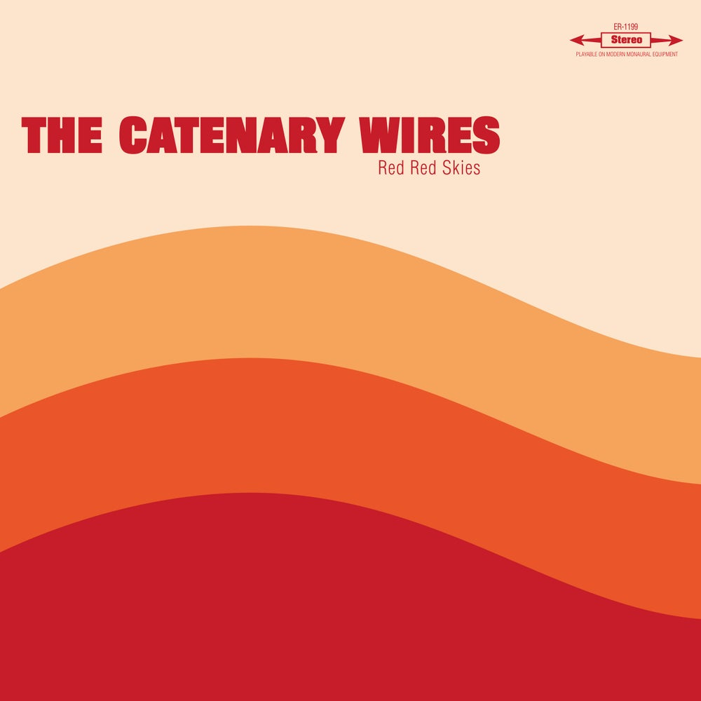 "Image of THE CATENARY WIRES - Red Red Skies (Clear 10"" vinyl mini-LP +free MP3s / Mini-CD Digipak)"