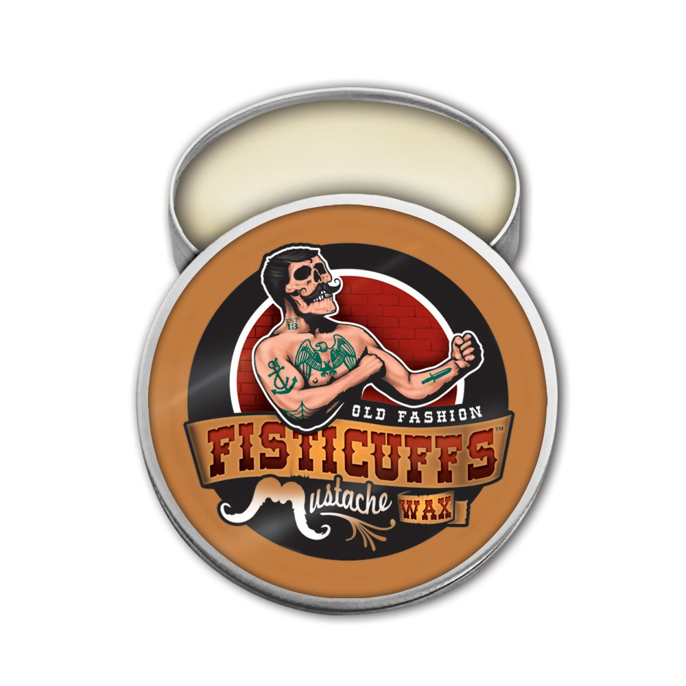 Image of Fisticuffs™ Strong Hold Mustache Wax 1 OZ. Tin