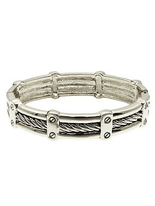 Image of TEXTURED METAL ROPED BRACELET