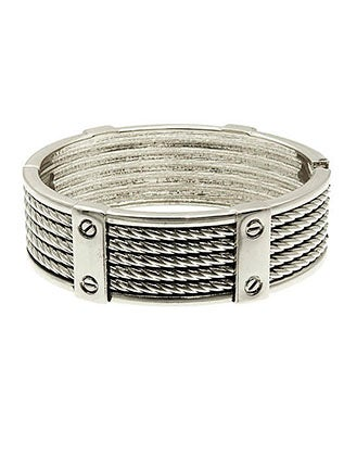 Image of FIVE ROW TEXTURED METAL ROPED BRACELET